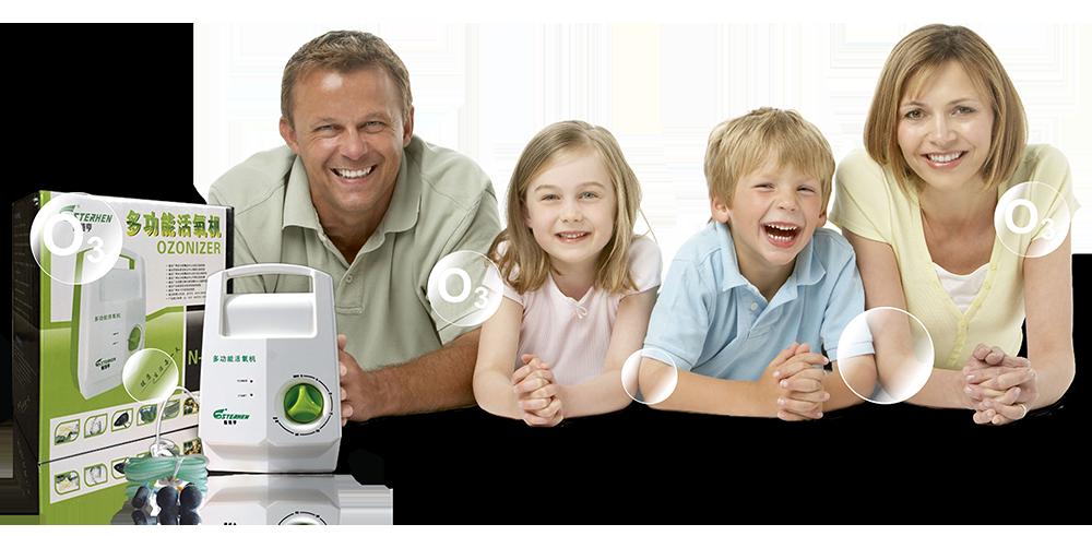Счастливая семья с озонатором Sterhen N-68